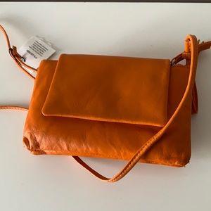 NWT ZARA Orange Double zipper bag